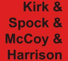 Kirk & Spock & McCoy & Harrison One Piece - Short Sleeve