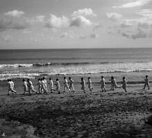 Kimono race on Bali beach by Jean-Michel Dixte