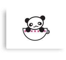 Panda Cup Canvas Print