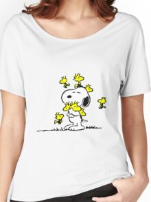 Woodstock loves Snoopy Women's Relaxed Fit T-Shirt