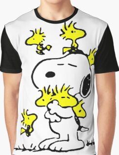 Woodstock loves Snoopy Graphic T-Shirt