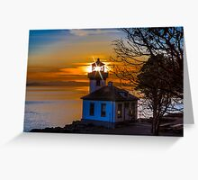 Lime Kiln Lighthouse Greeting Card