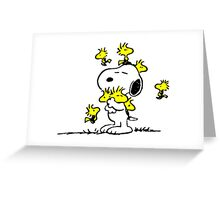 Woodstock loves Snoopy Greeting Card