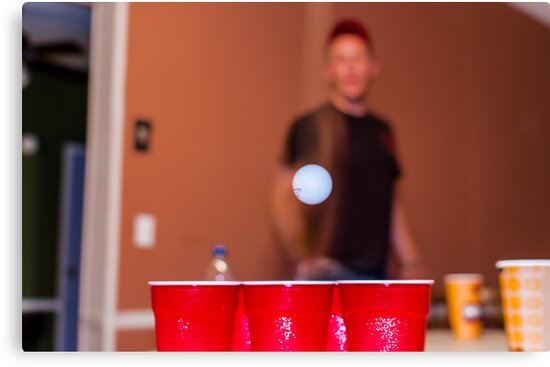 Beer Pong by Shaneface