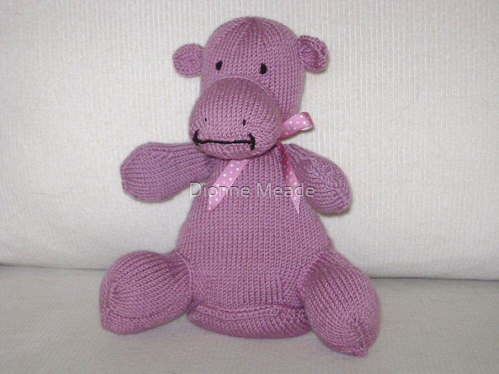 Pink Hippo Calf by Dionne Meade