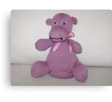 Pink Hippo Calf Canvas Print