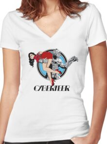 Cyberteer Women's Fitted V-Neck T-Shirt