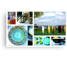 at the pottery market in Diessen Canvas Print