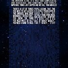Doctor Who TARDIS Typography by saycheese14