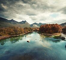 Autumn River by Andreas Stridsberg