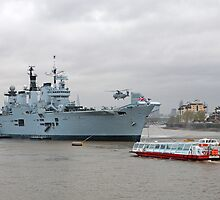 HMS Illustrious in Greenwich by Keith Larby
