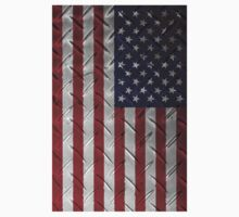 "United States ""painted on metal structure #1"" flag One Piece - Short Sleeve"