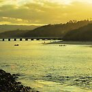 Sundown at Tallebudgera Creek, Gold Coast by Emily McAuliffe