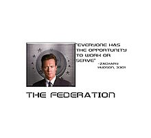 Zachary Hudson with quote - Elite Dangerous Photographic Print