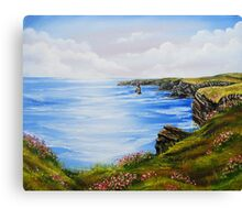 Kilkee Cliffs Oil Painting Canvas Print