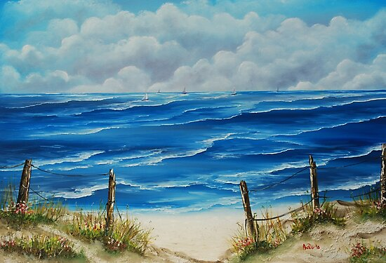 Fanore Beach, County Clare - oil painting by Avril Brand