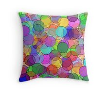 Polka Dot Stained Glass Throw Pillow