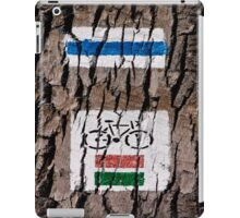 Cycle track sign. iPad Case/Skin