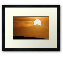Solar Eclipse - May 10 2013  Framed Print
