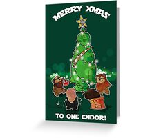 Merry Xmas Star Wars Greeting Card