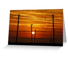Birds On A Wire Greeting Card