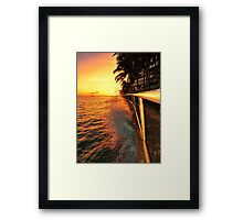 Along the walkway Framed Print
