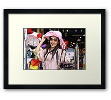 Vivi in the Pink Hat Framed Print