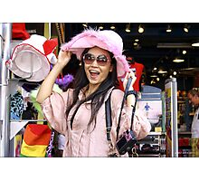 Vivi in the Pink Hat Photographic Print