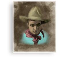 Vintage Cowboy Illustration Canvas Print