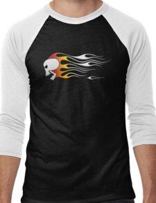 Flaming Skull Men's Baseball ¾ T-Shirt
