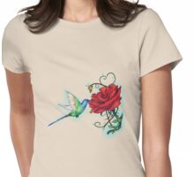 Mother's Nature Rose (Redbubble Challenge Entry) Womens Fitted T-Shirt