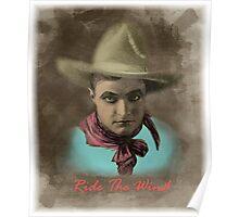 Vintage Cowboy Illustration Poster