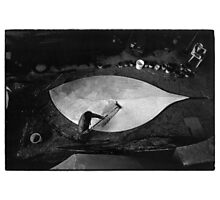 dream of papier-mâché -leaf. black and white film Photographic Print