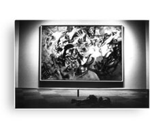Kandischi. black and white film Canvas Print