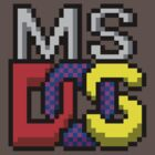 MS-DOS Icon Retro Pixel Computer Symbol by hangman3d