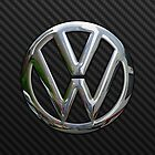 VW Logo in Silver Chrome by Chromed