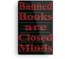 Banned books Metal Print