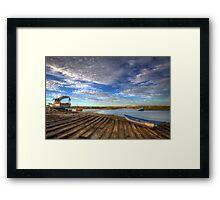 Boatyard Slipway Framed Print