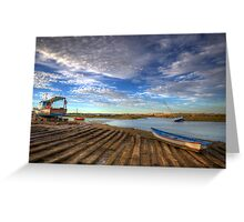 Boatyard Slipway Greeting Card