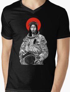 Astro Jesus Mens V-Neck T-Shirt