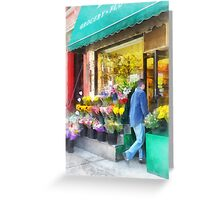 Neighborhood Flower Shop Greeting Card