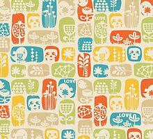 Love, birds and skulls. by Ekaterina Panova