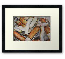 Crayon smoker. Framed Print