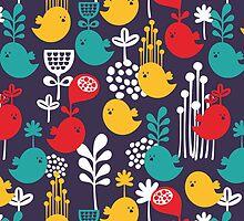 Colorful birds. by Ekaterina Panova