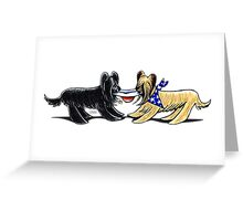Briard Mad Hatters Greeting Card