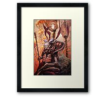 The Hunter and his Henchman. Framed Print