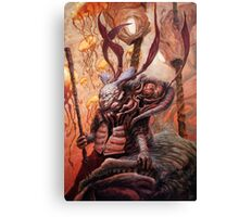 The Hunter and his Henchman. Canvas Print