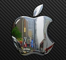 Apple Logo in Silver Chrome by Chromed