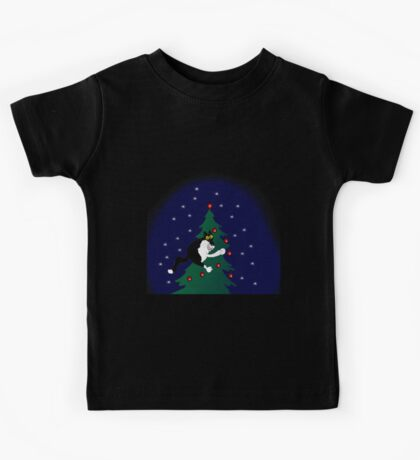 Xmas mischief: for the love of trees! Kids Tee
