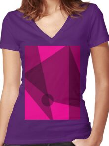 Rosy Dawn Women's Fitted V-Neck T-Shirt